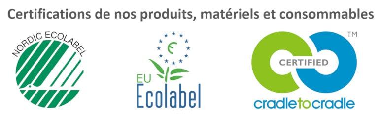 Certifications Ecolabel et Cradle-to-Cradle